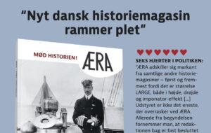 """Seks hjerter i Politiken: """"Allerede fra begyndelsen fornemmer man, at redaktionen bag er fast besluttet på at give danskerne en hel ny type historiemagasin […] Kvaliteten af artiklerne er tårnhøj"""""""
